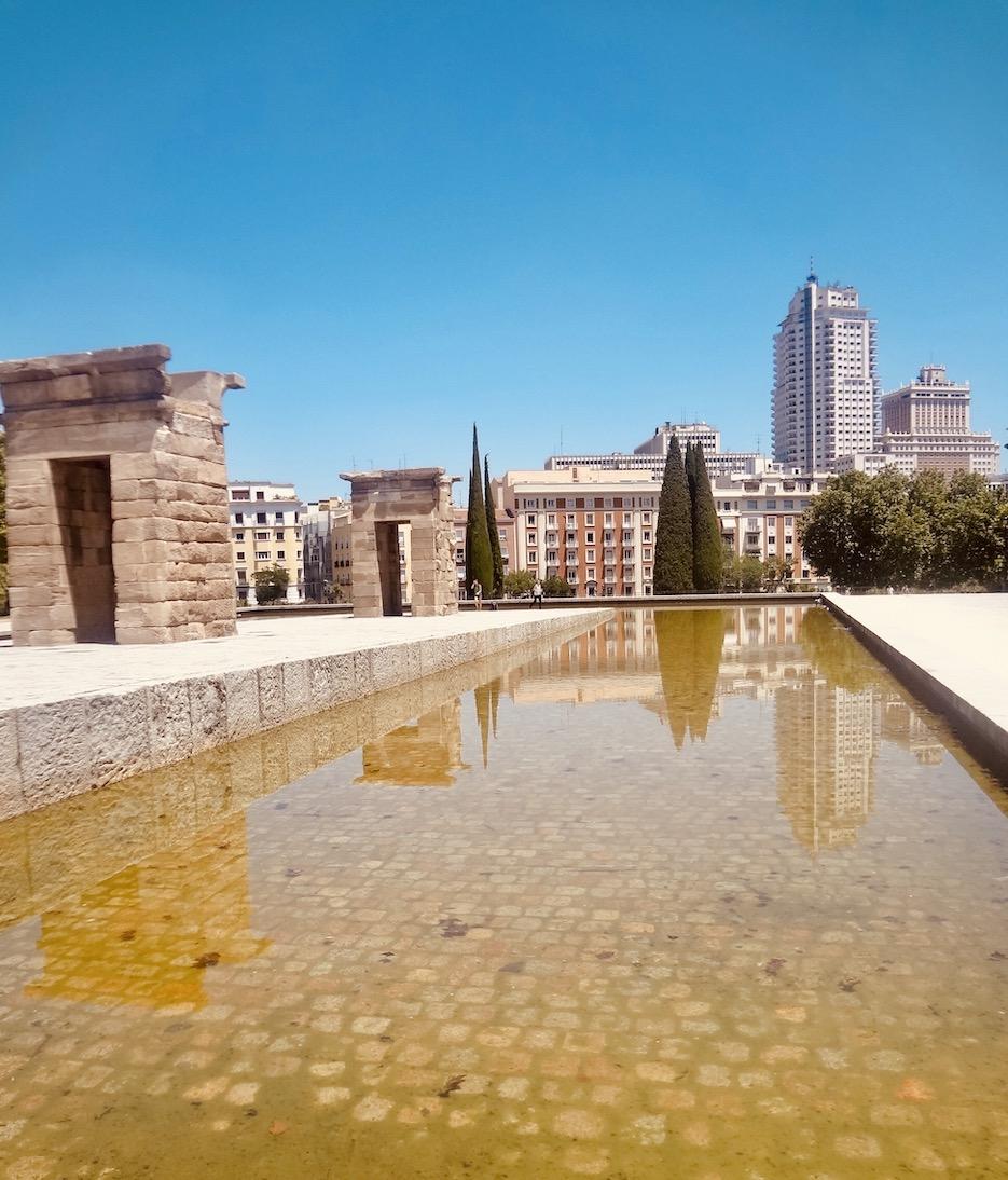 Temple of Debod Madrid Spain.