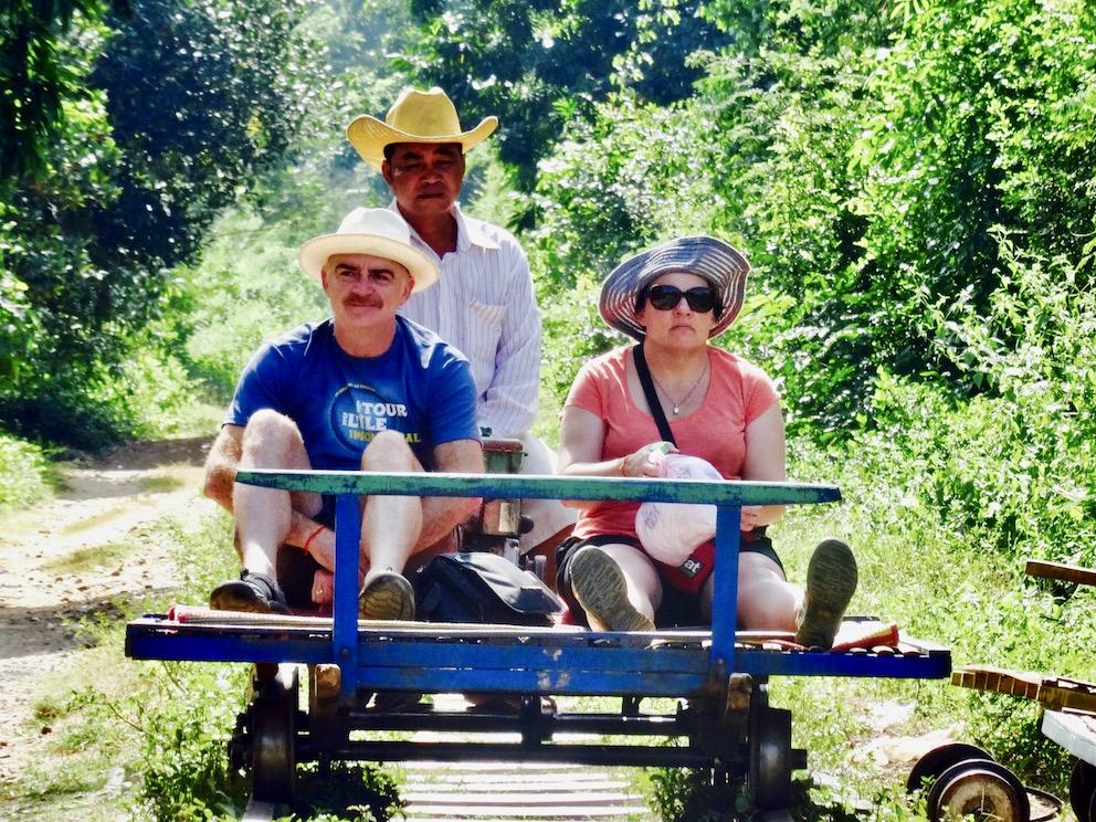 The Battambang Bamboo Train.