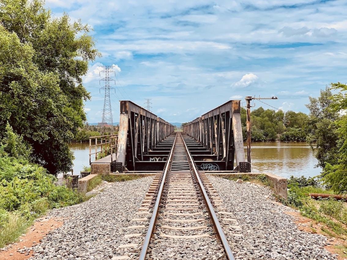 The Colonial Railway Bridge Kampot.