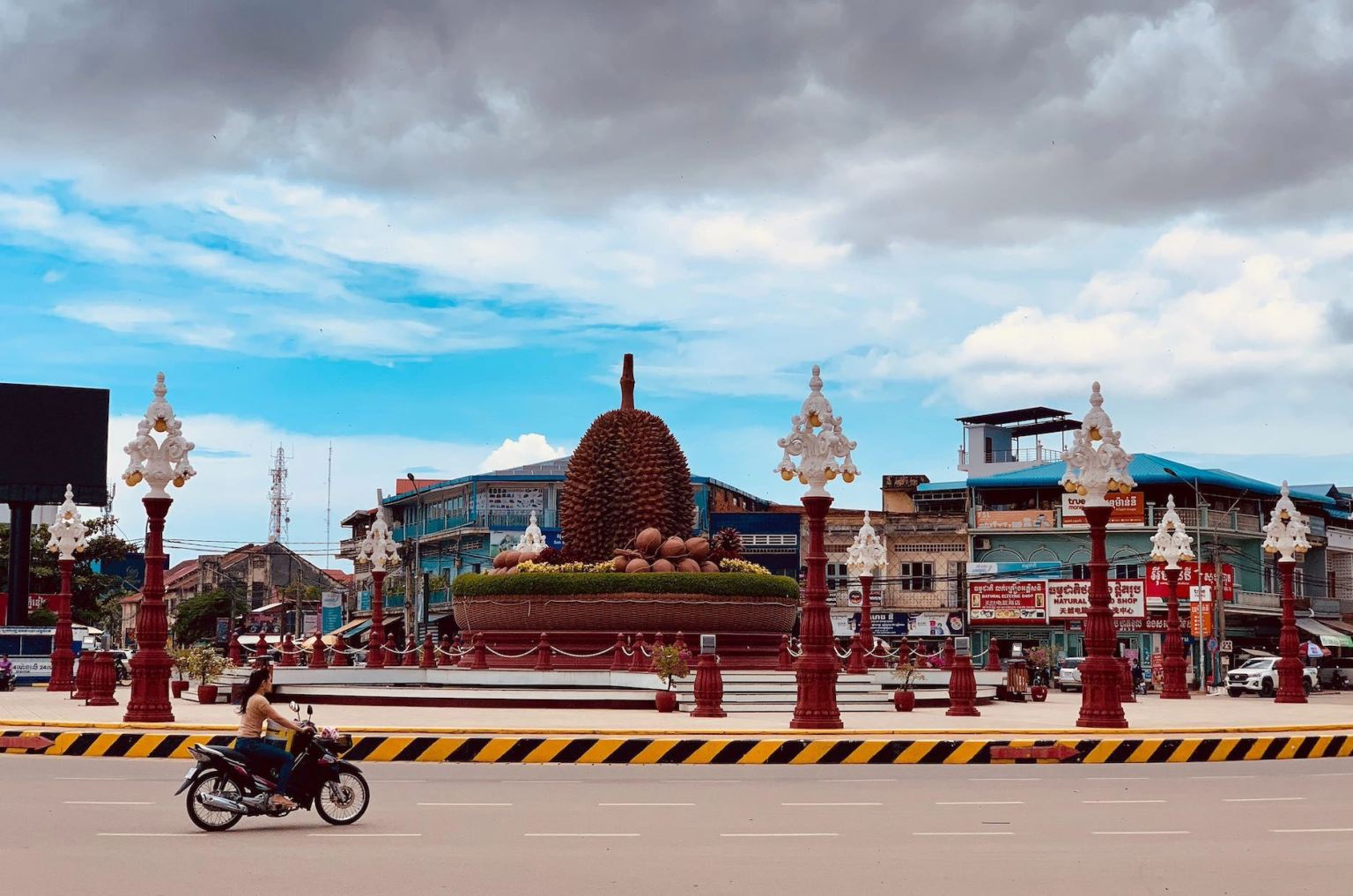 The Durian Roundabout Cool Spots Around Kampot