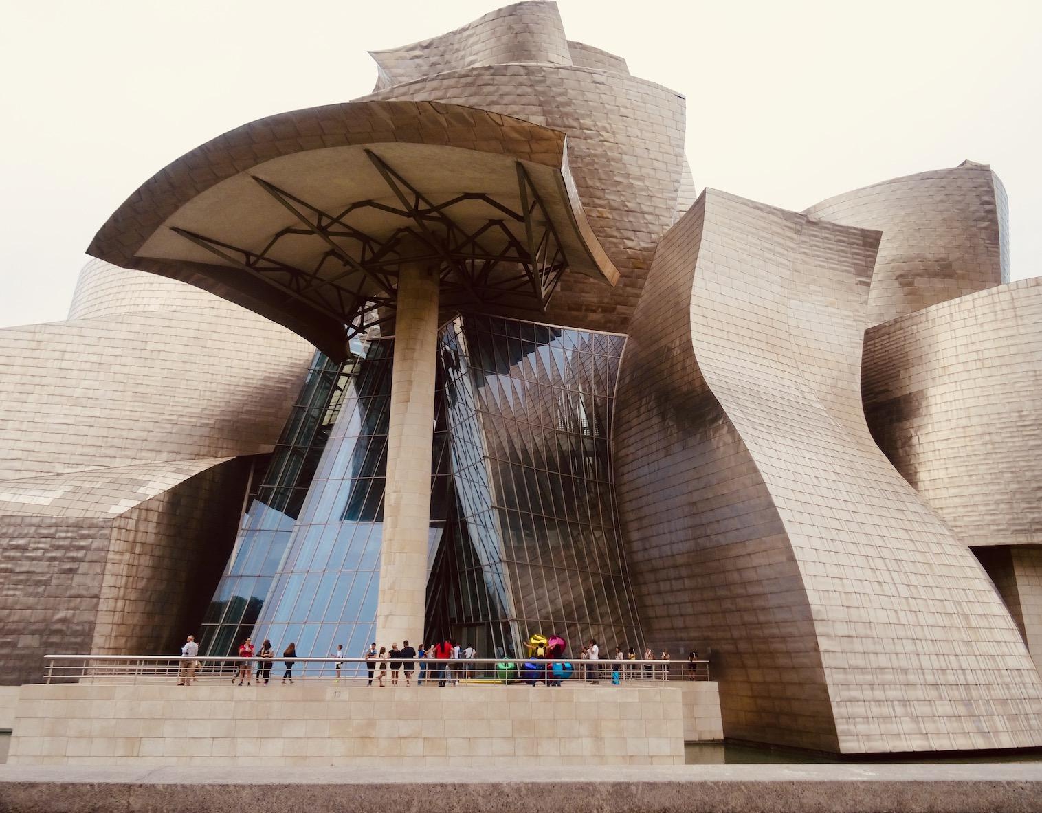 The Guggenheim Museum Bilbao Spain.