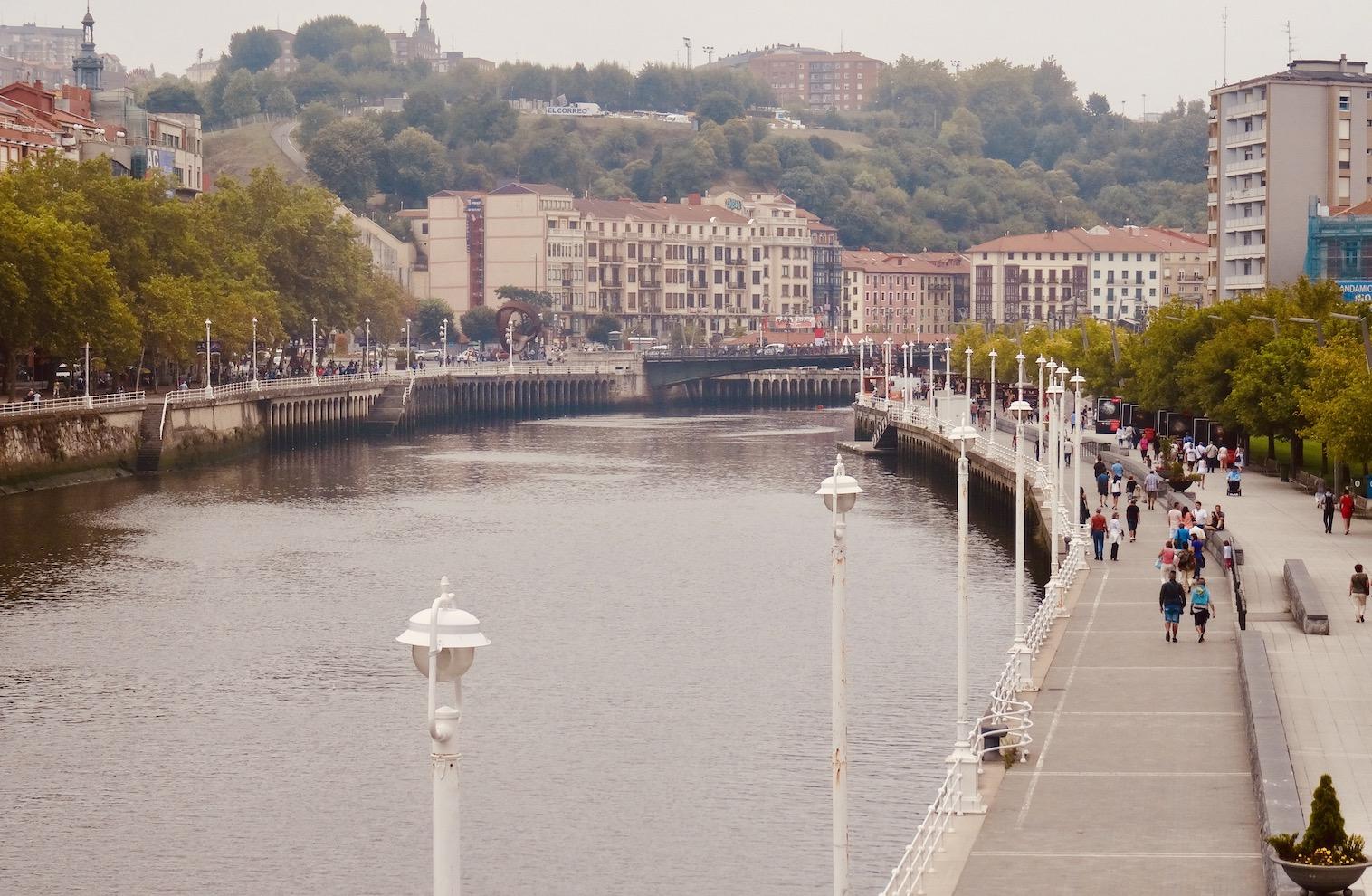 The Nervion River Bilbao.
