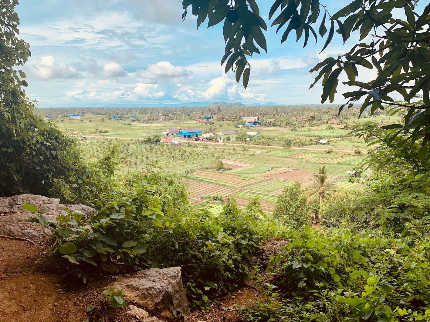 Views over Kampot Province from Phnom Chhngok