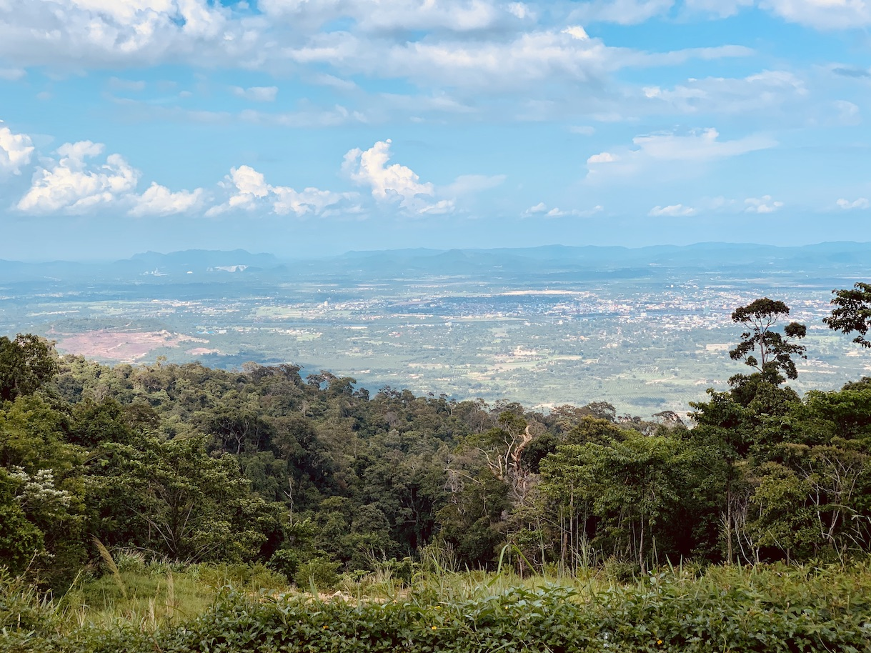 Views over Kampot from Bokor Mountain.