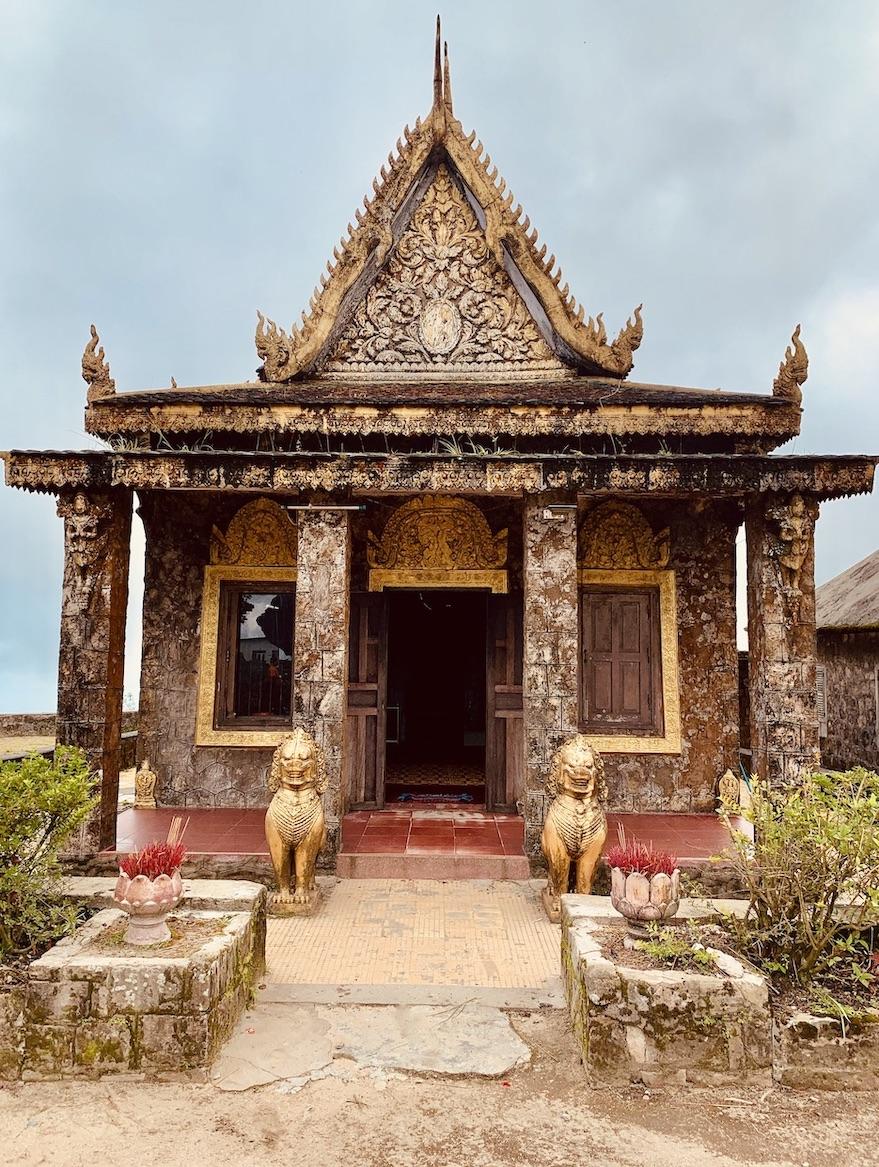 Wat Sampov Pram Temple Kampot Cambodia.