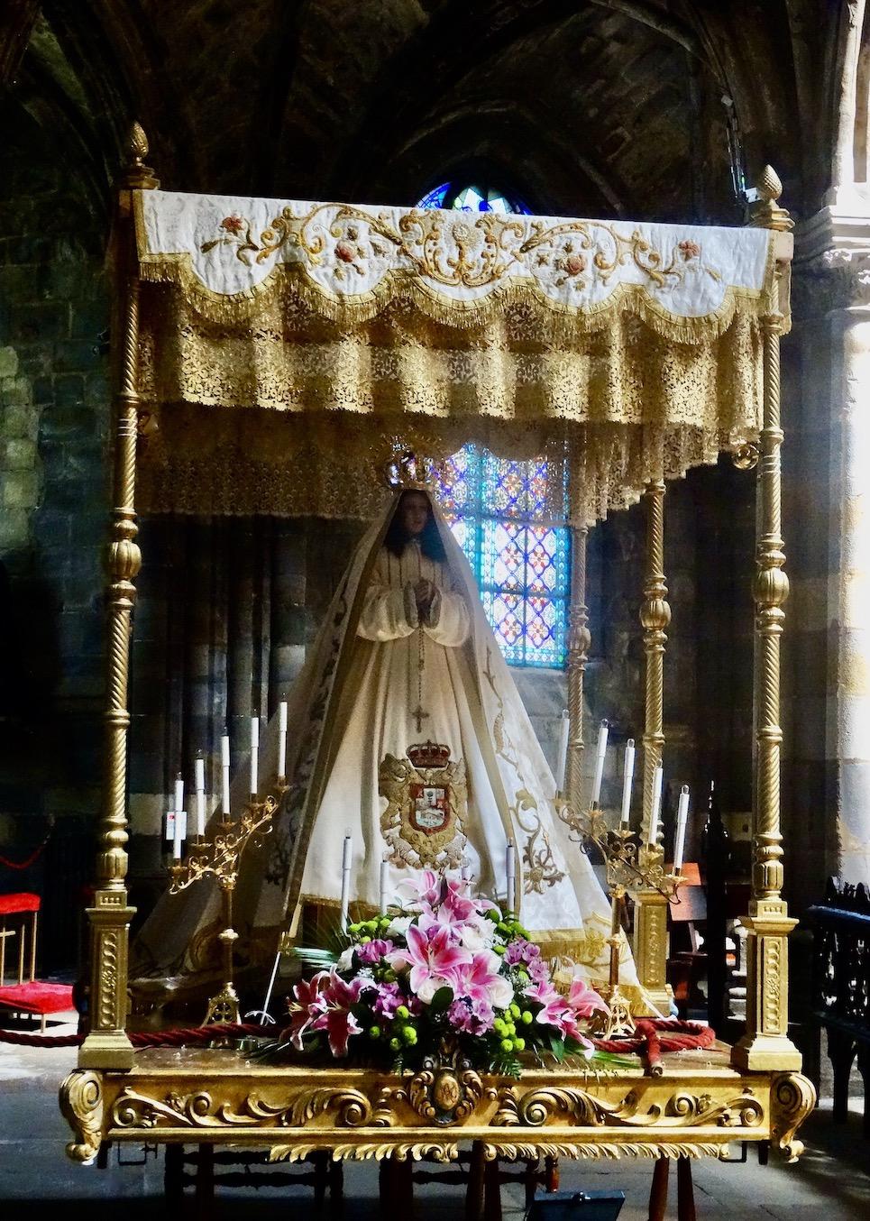 White Virgin Mary Church of Santa María de la Asunción Castro Urdiales