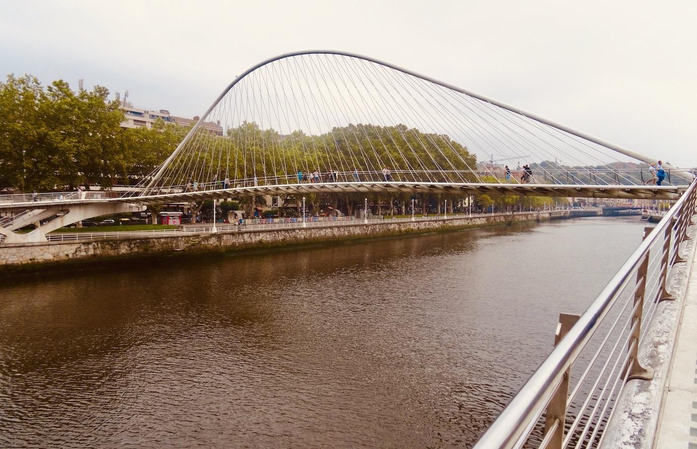 Zubizuri Bridge Bilbao.
