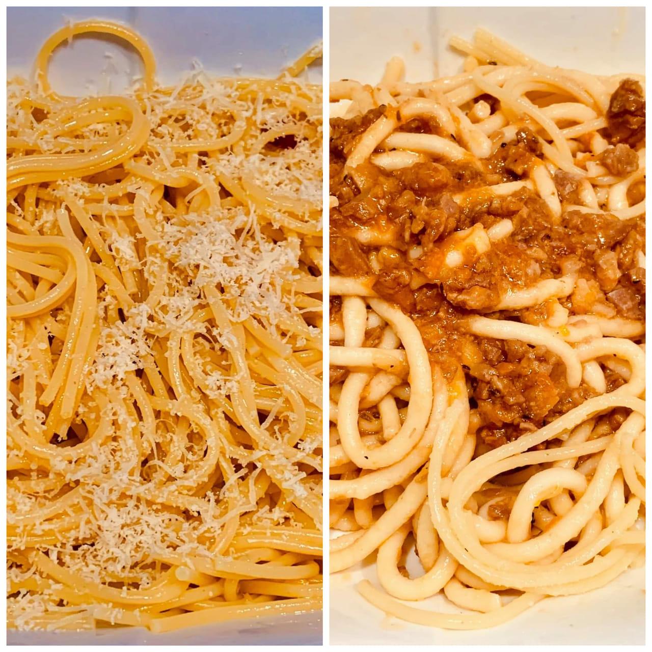 Aglio e Olio and Spaghetti bolognese Marina Restaurant Kampot
