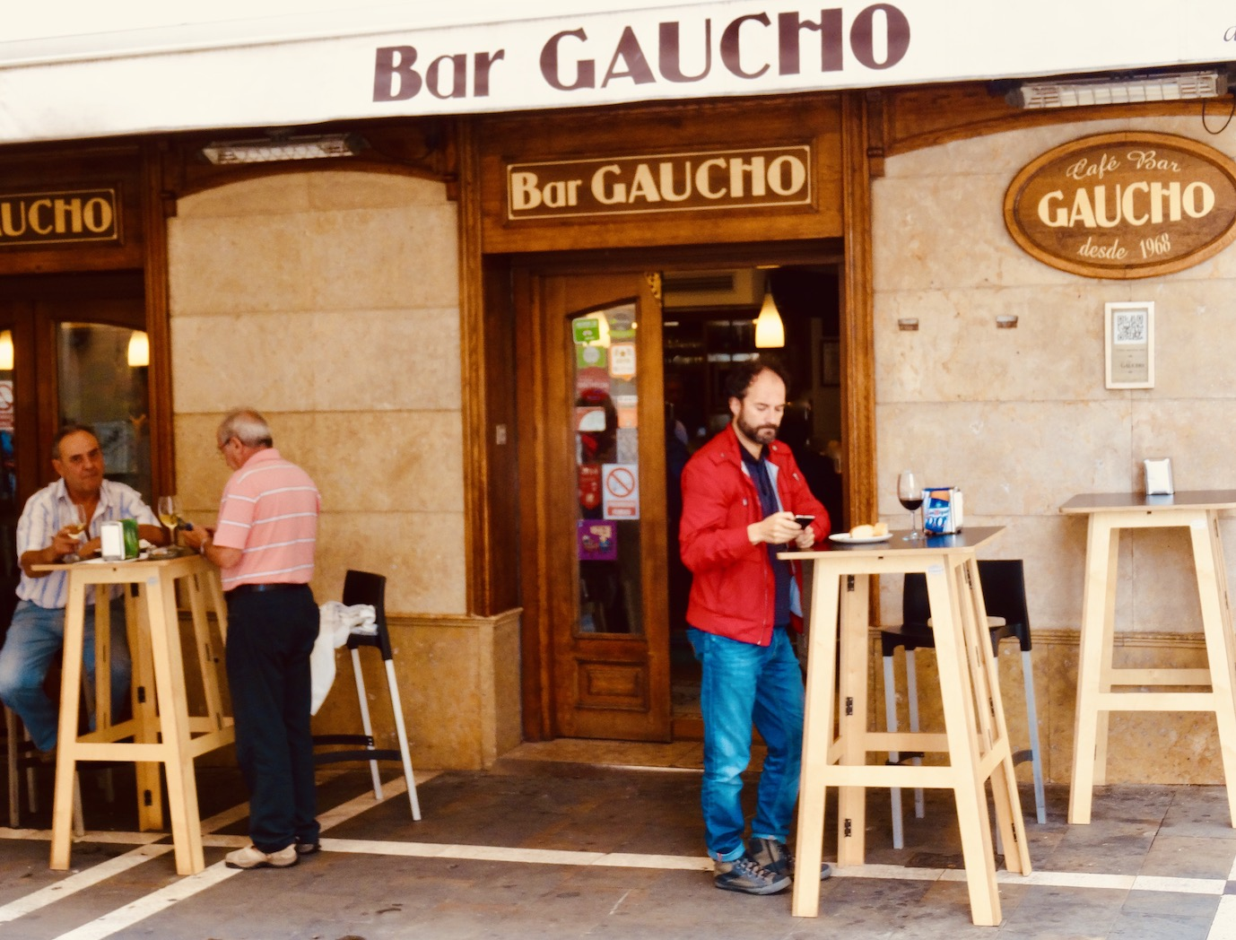 Bar Gaucho Pamplona Spain.