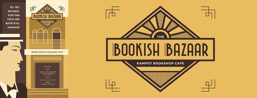 Bookish Bazaar Cafe logo Kampot Cambodia