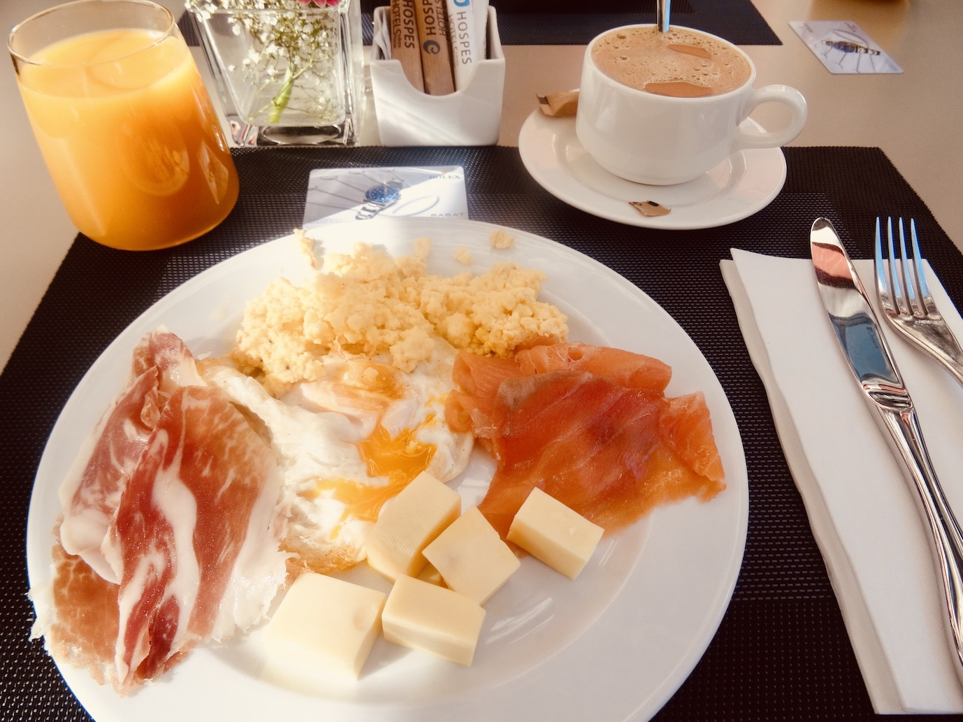 Breakfast at Hotel Hospes Palau de la Mar Zaragoza