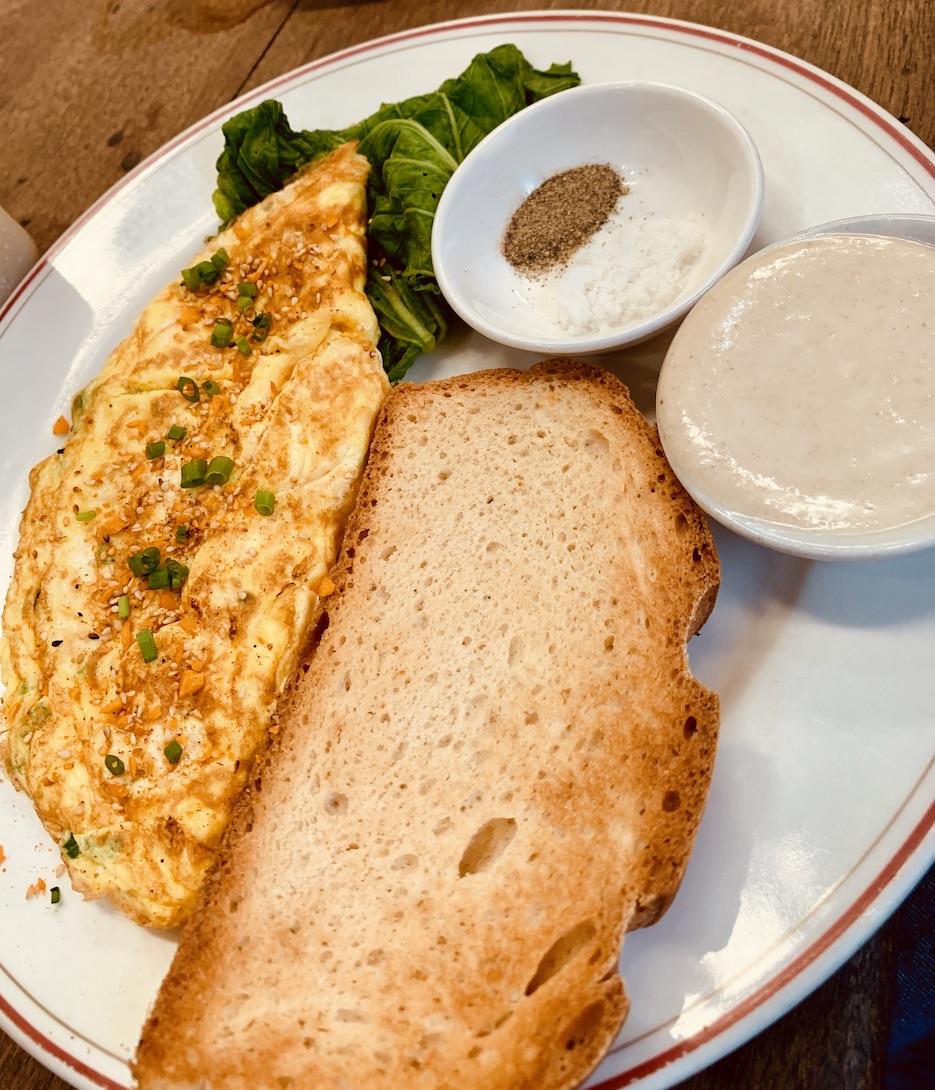 Breakfast omelette Cafe Espresso Kampot