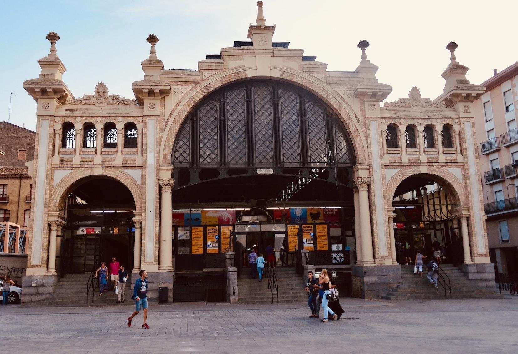 Central Market Zaragoza Spain.