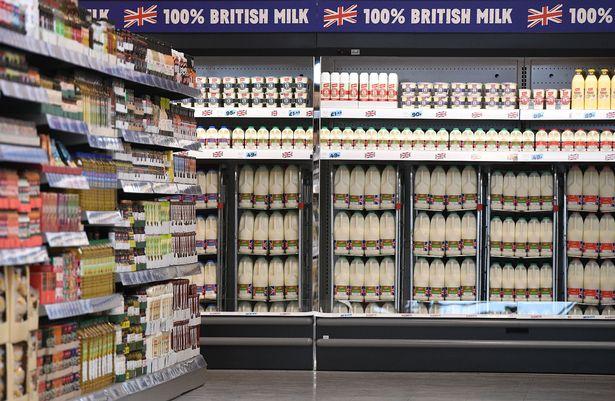 Dairy aisle Tesco.