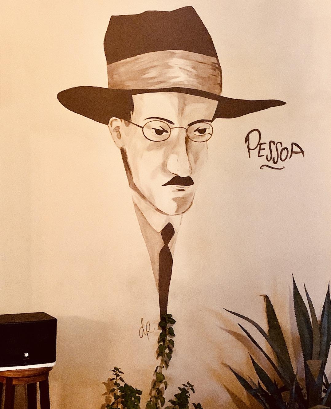 Fernando Pessoa mural Kampot Cambodia