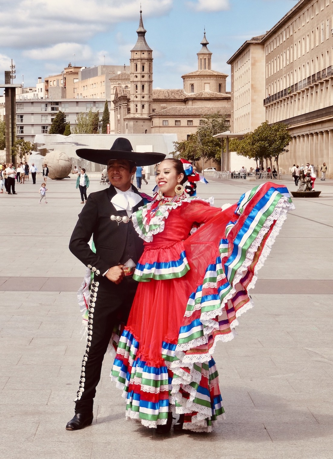 Flamenco dancers Zaragoza Spain.