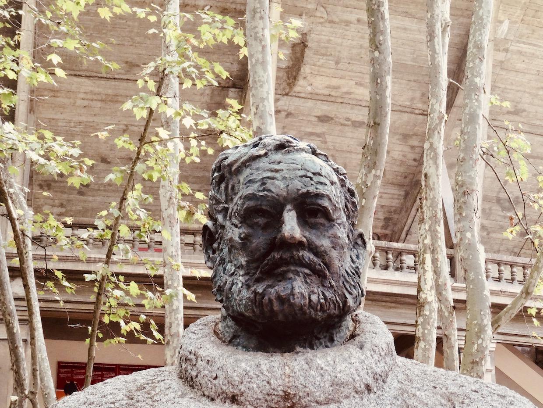 Hemingway Statue Pamplona Spain.