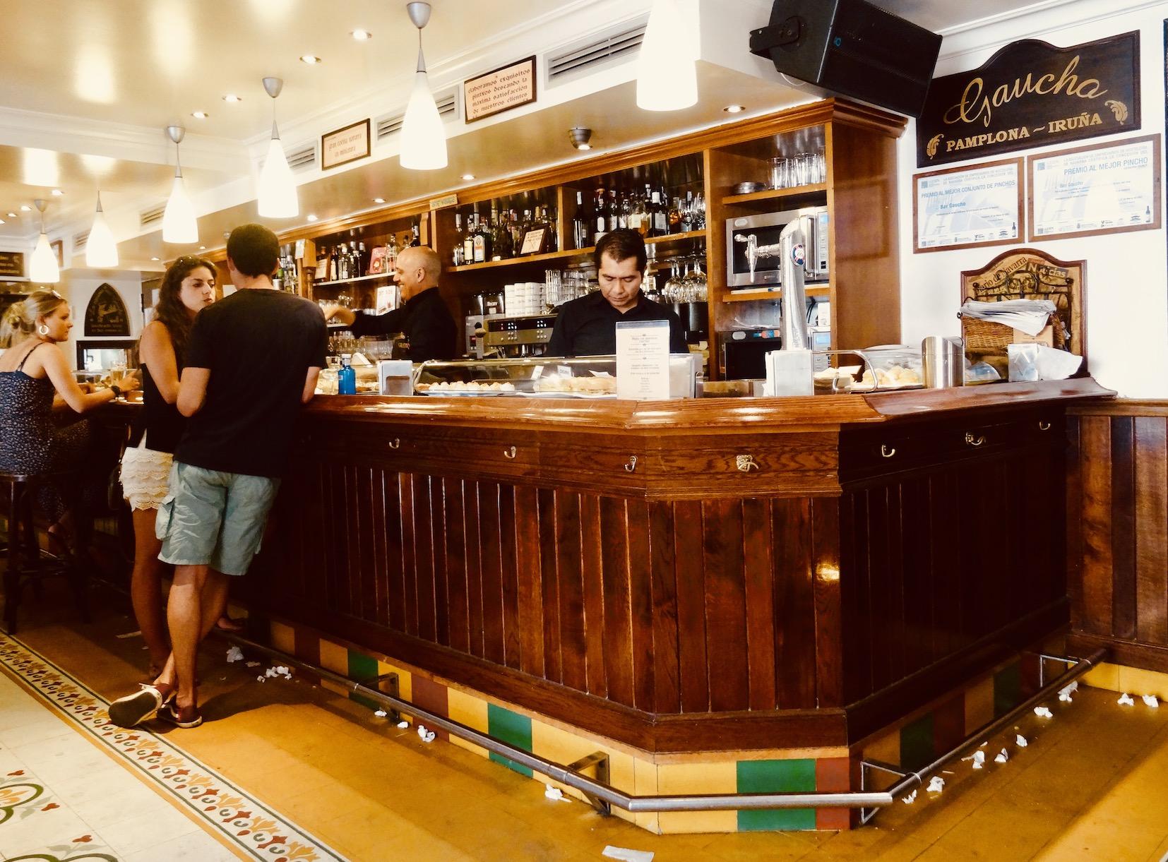 Inside Bar Gaucho Pamplona.
