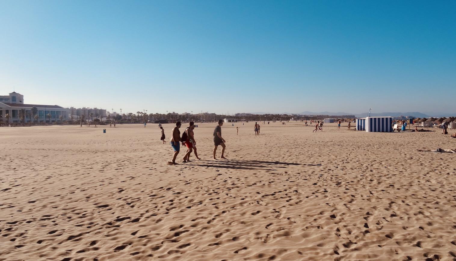 Malvarrosa Beach Valencia.