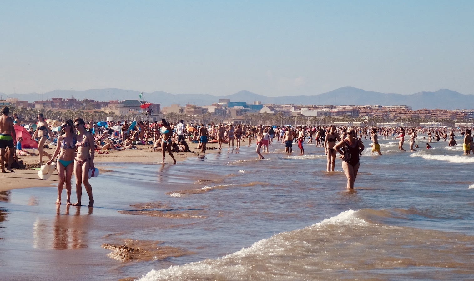 Malvarrosa Beach in Valencia.