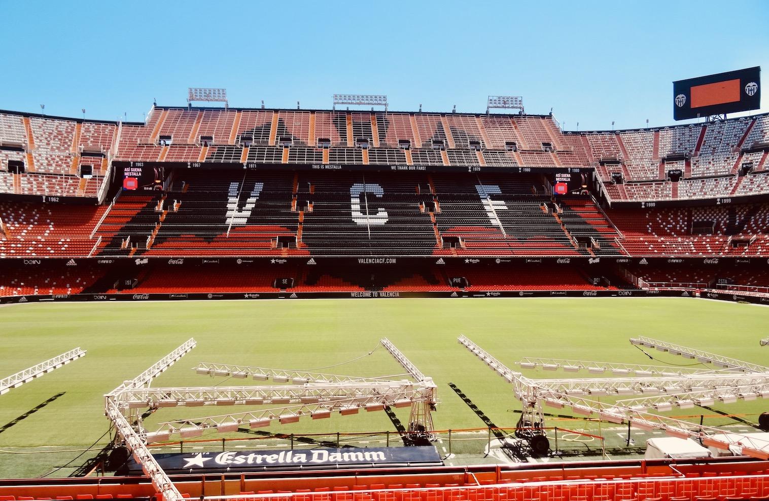 Mestalla Stadium Valencia.