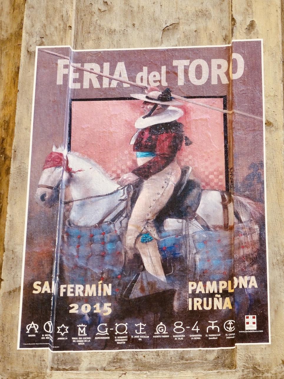 Pamplona Bullring poster.