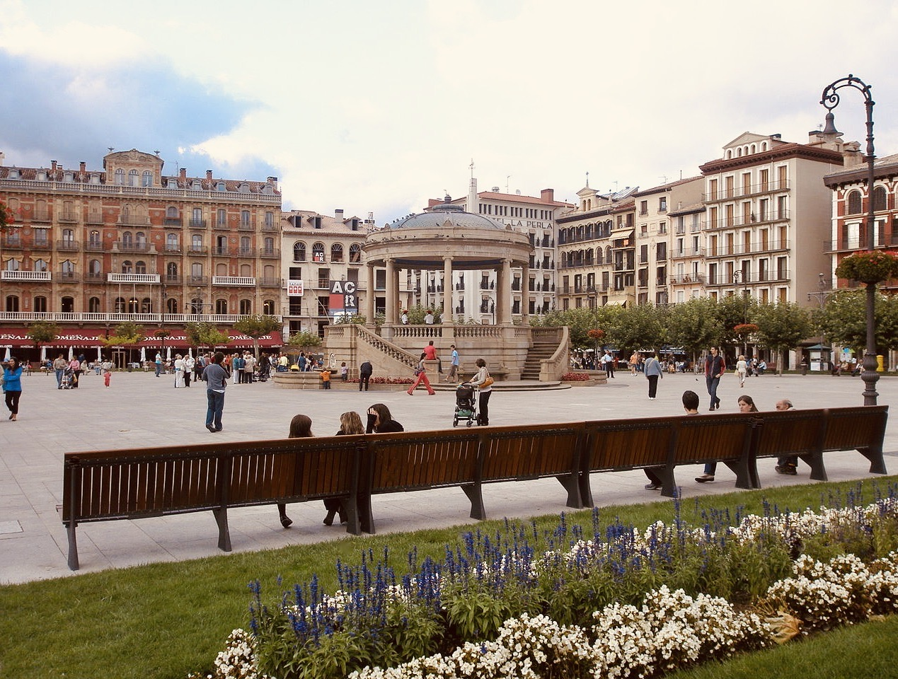 Plaza Castillo Pamplona Spain.