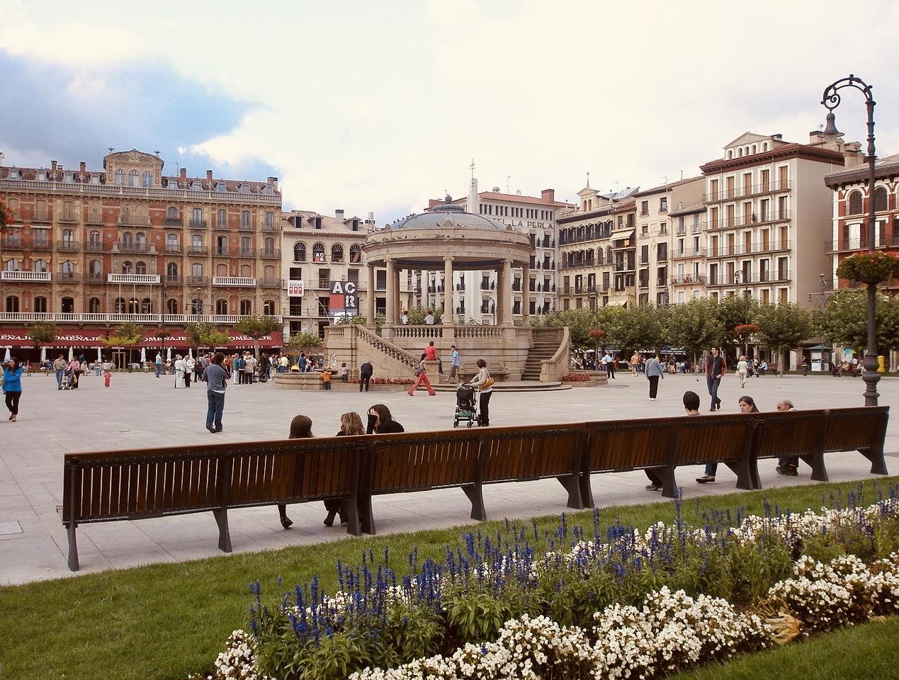 Plaza Castillo Pamplona Spain.