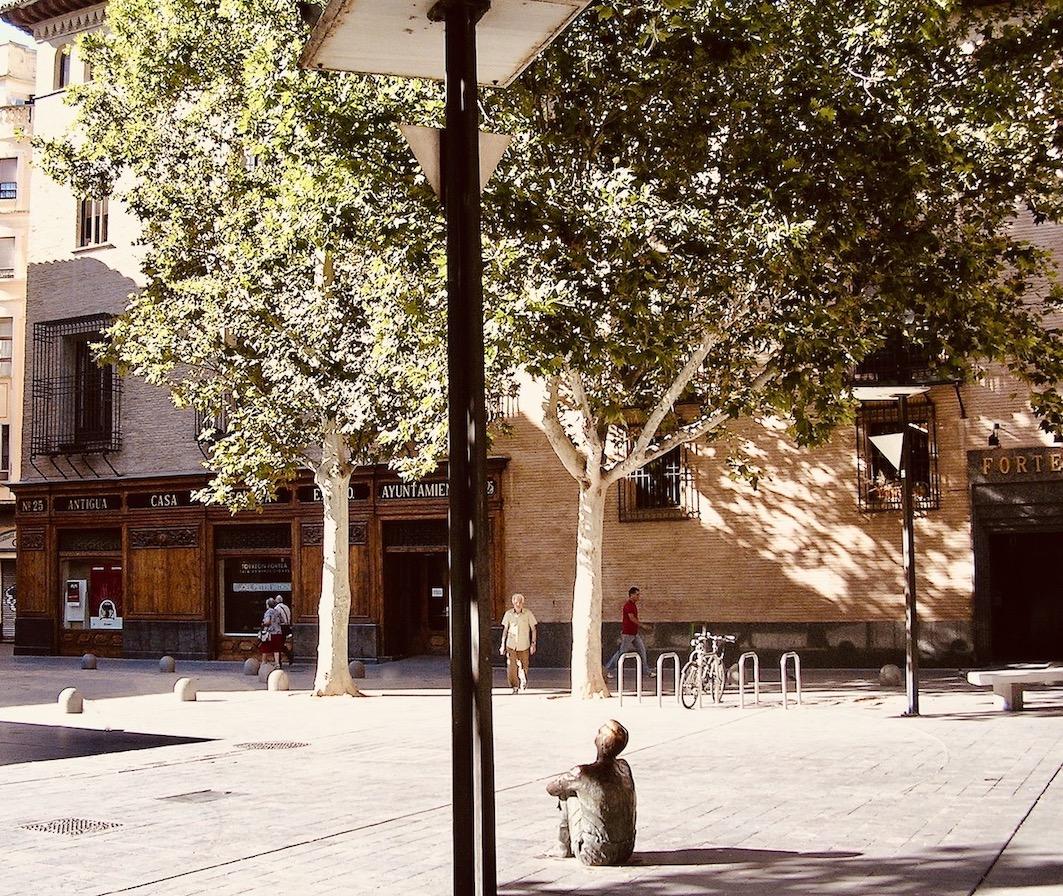 Plaza de San Felipe Zaragoza Spain.