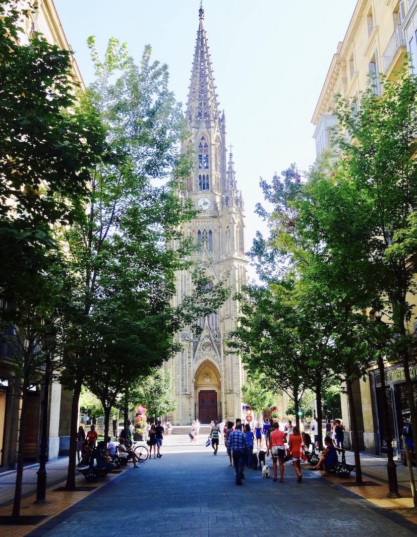 San Sebastian Cathedral Spain.