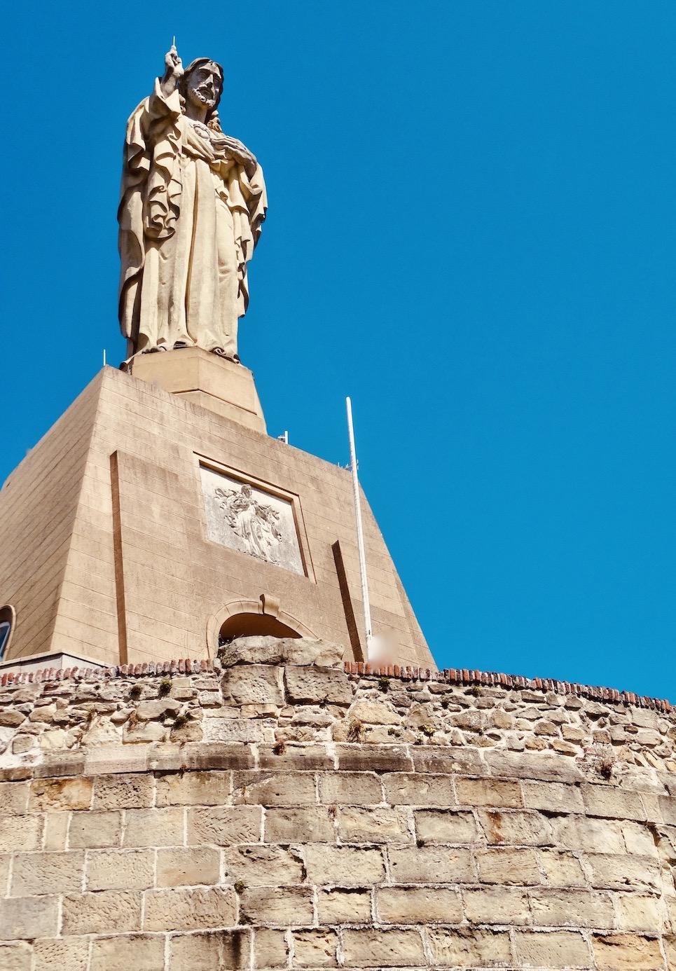 Statue of Jesus San Sebastian.