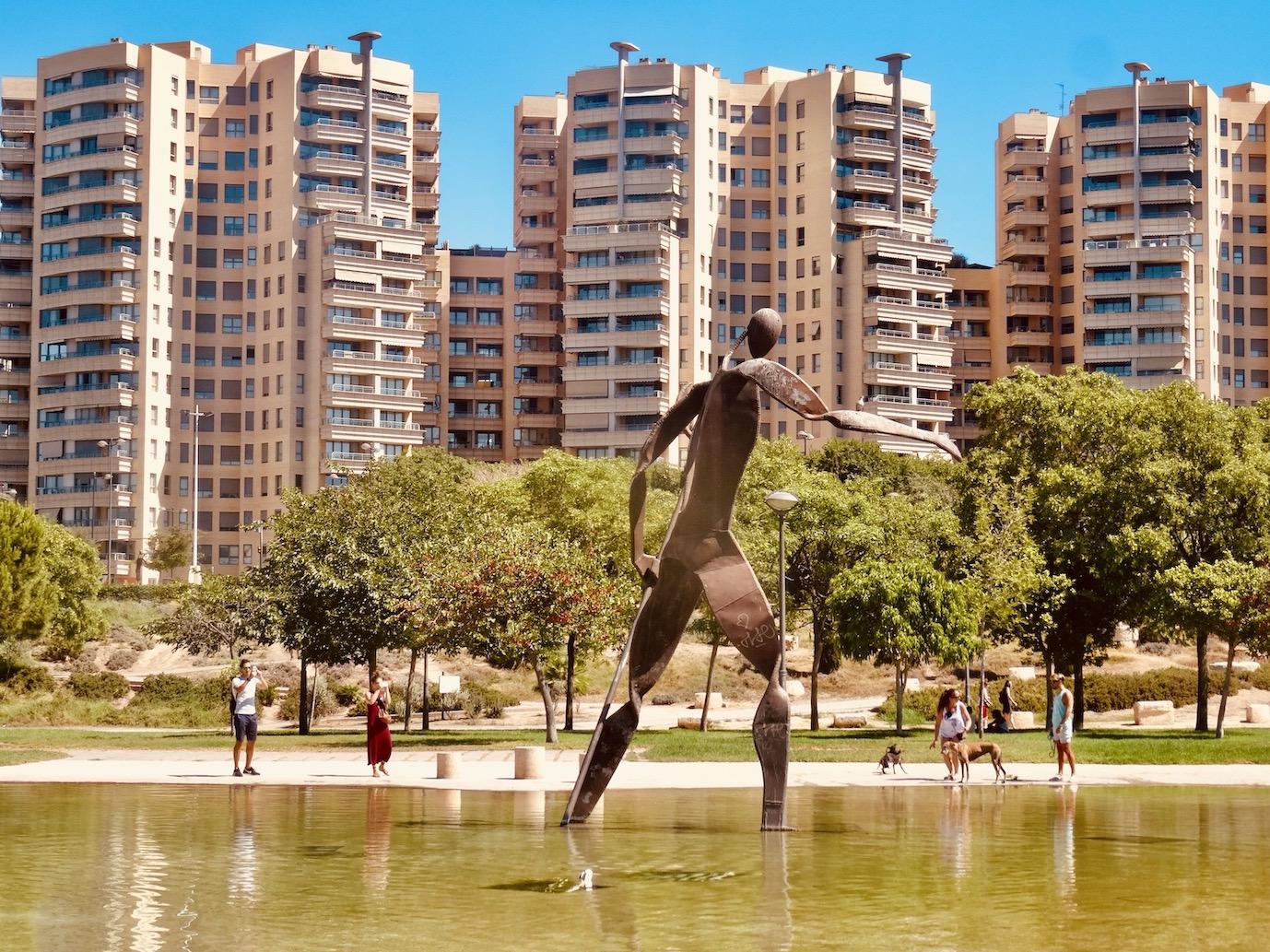 Turia Gardens Valencia Spain.