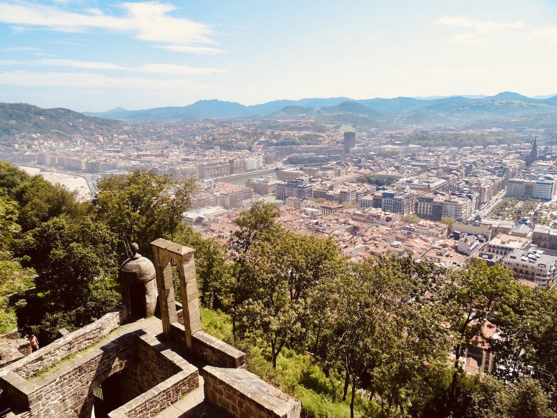 Views over San Sebastian from La Mota Castle