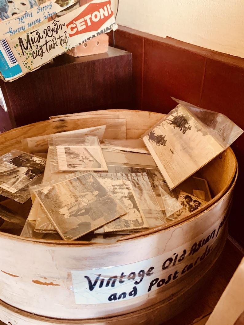 Vintage photographs and postcards Kampot