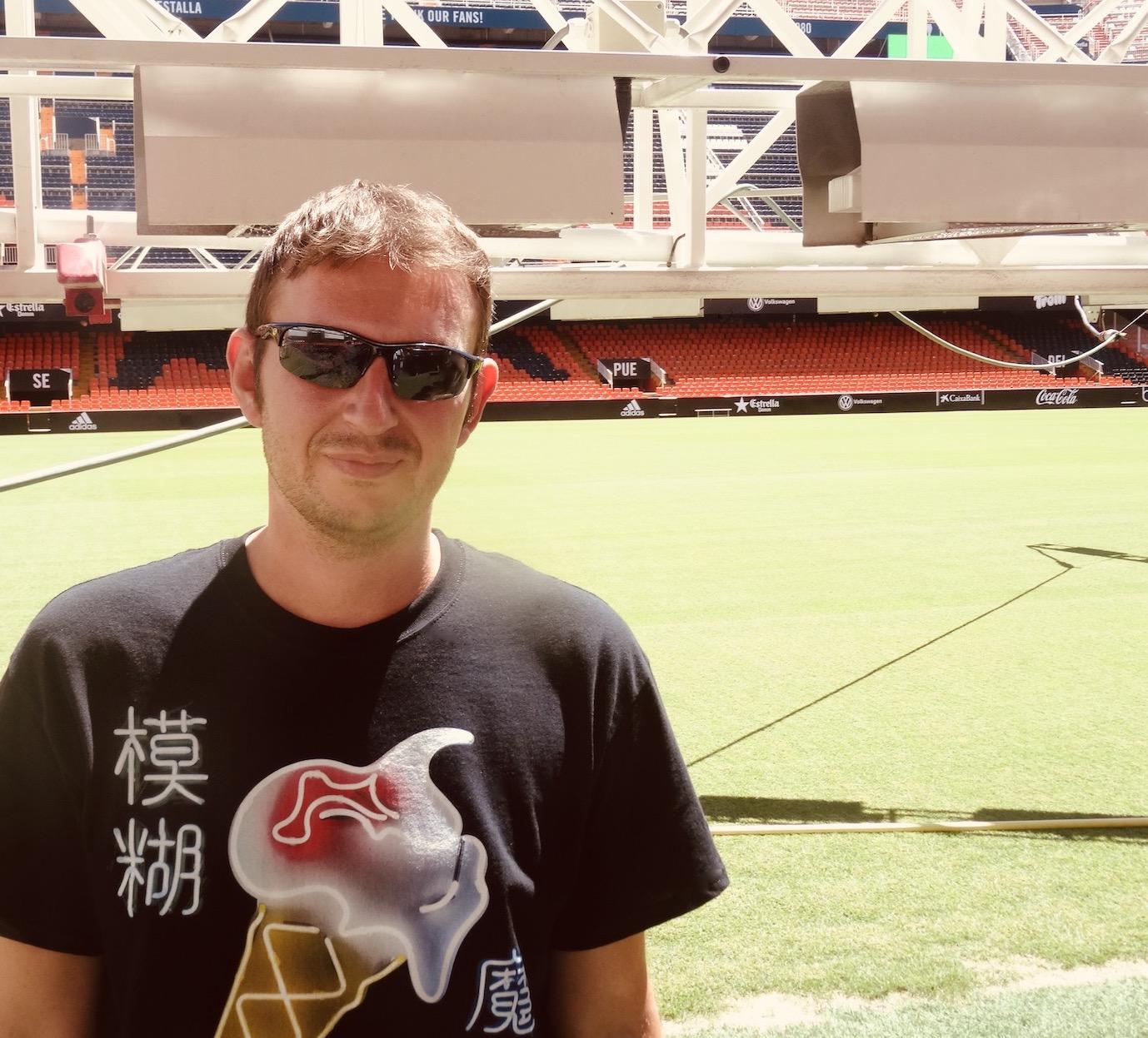 Visiting Mestalla Stadium Valencia.