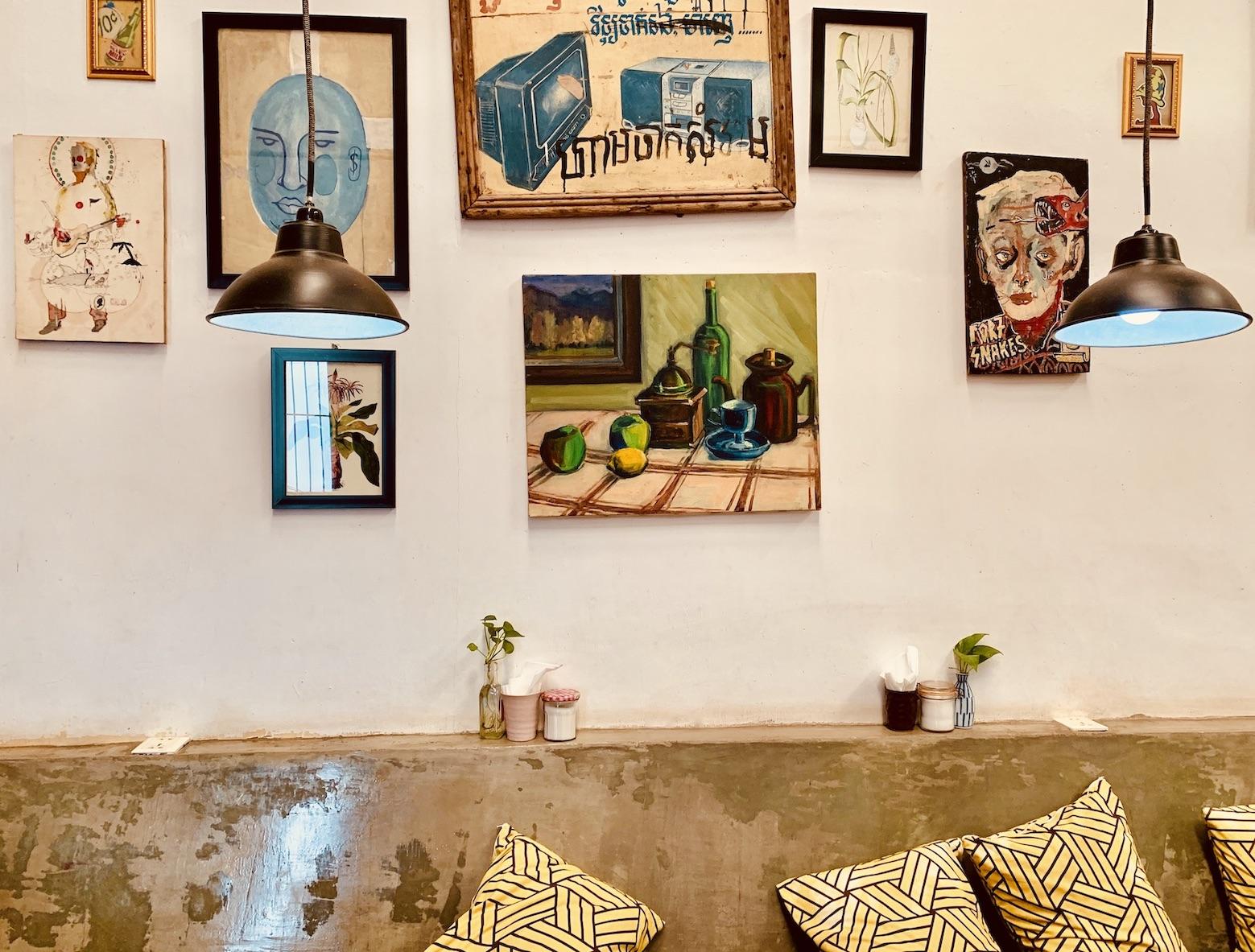 Wall art Cafe Espresso Kampot.