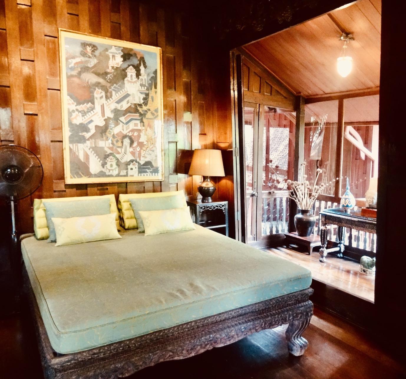 Bedroom Jim Thompson House Bangkok.