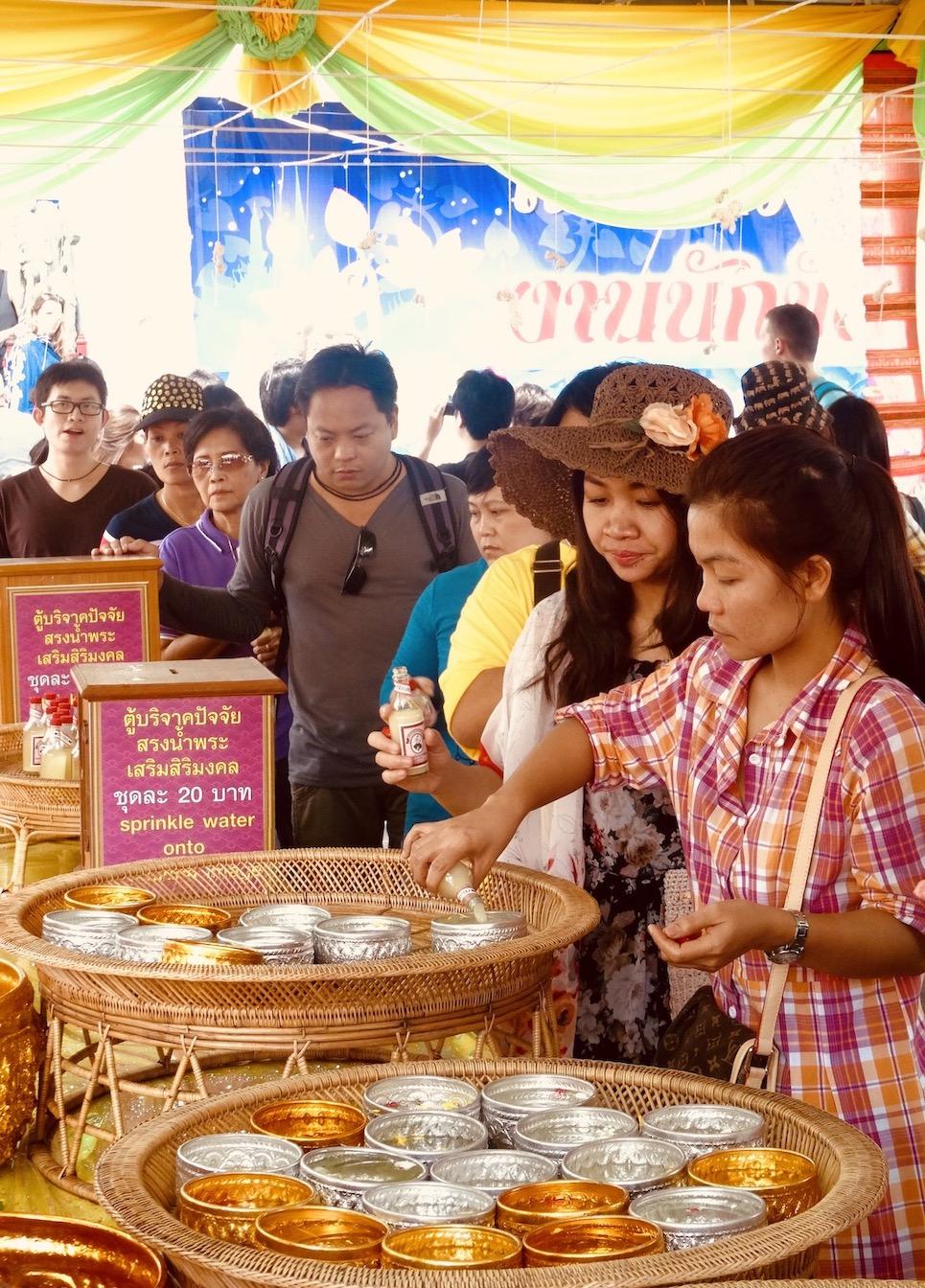 Buddha bathing Wat Pho Bangkok
