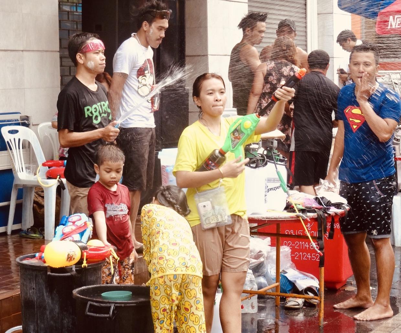 Celebrating Songkran Bangkok Thailand