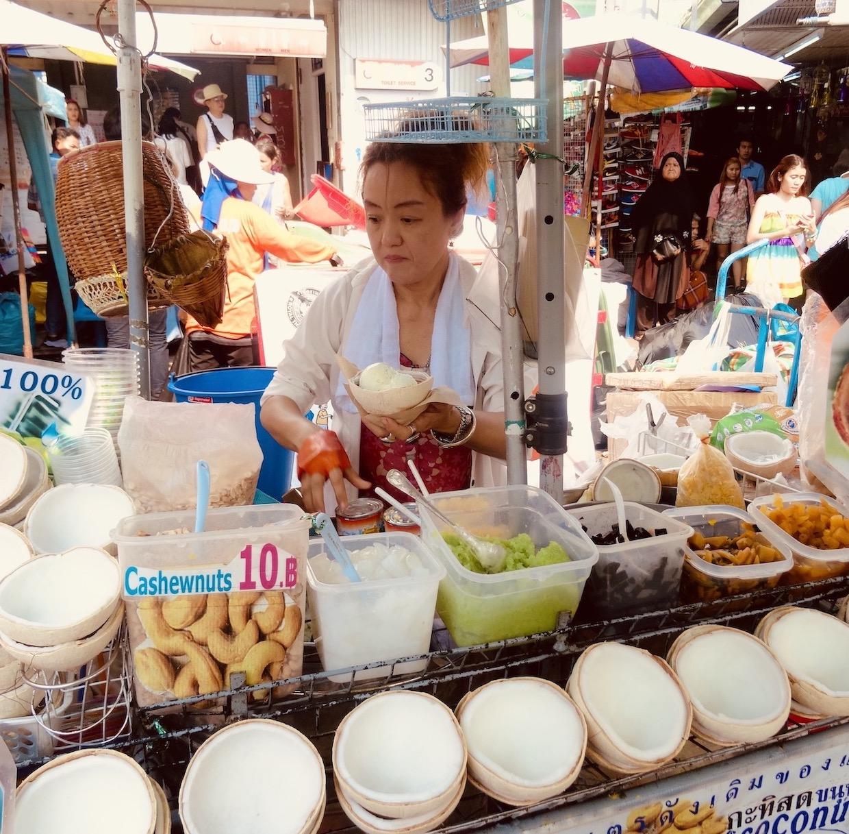 Coconut Ice Cream Bangkok.