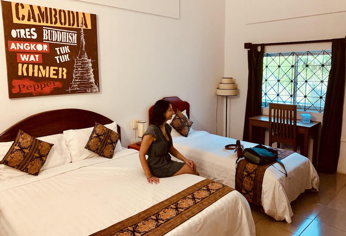 Double bedroom Kool Kampot Guesthouse