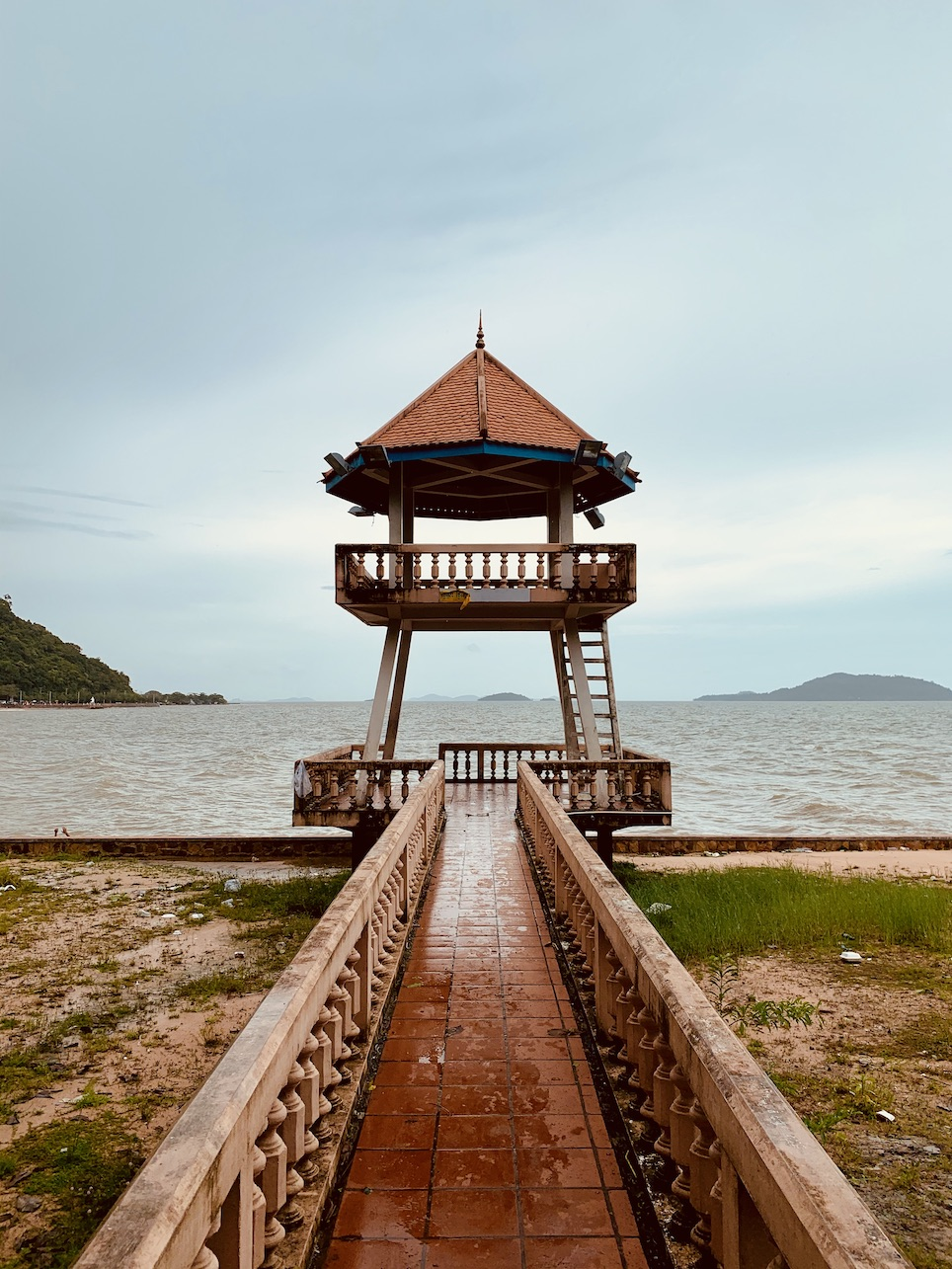 Gazebo Chhak Kep Bay Cambodia.