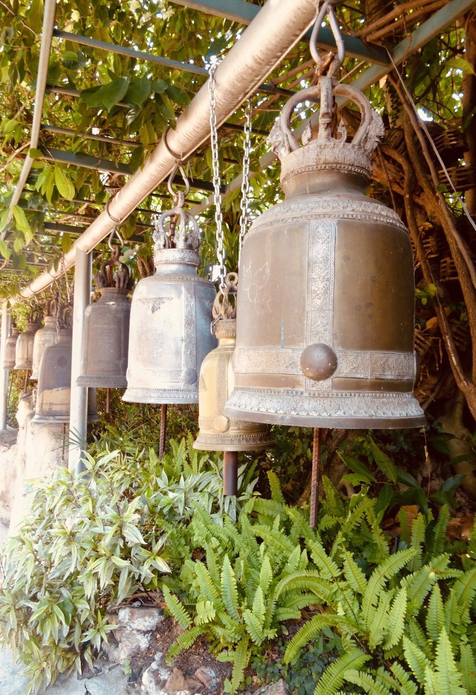 Giant bells Wat Saket Golden Mount
