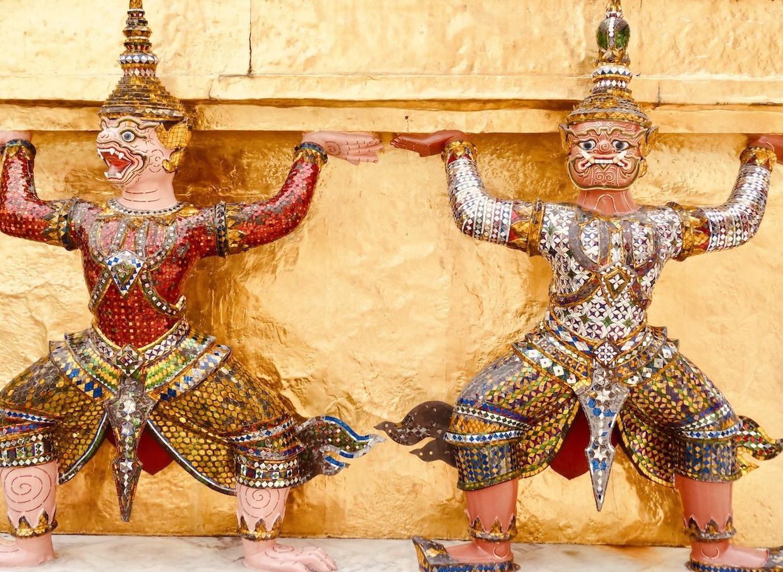 Guardian statues Grand Palace Bangkok