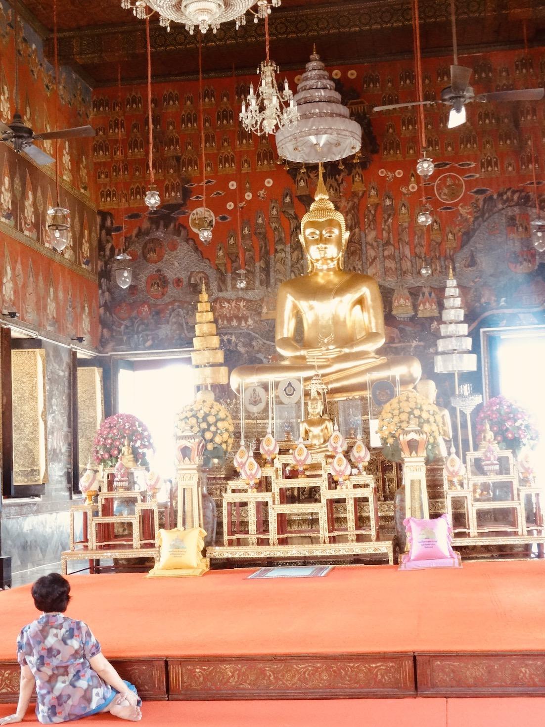 Inside Wat Saket.