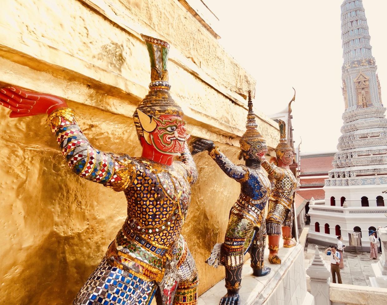 Monkey dragon guardians Grand Palace Bangkok