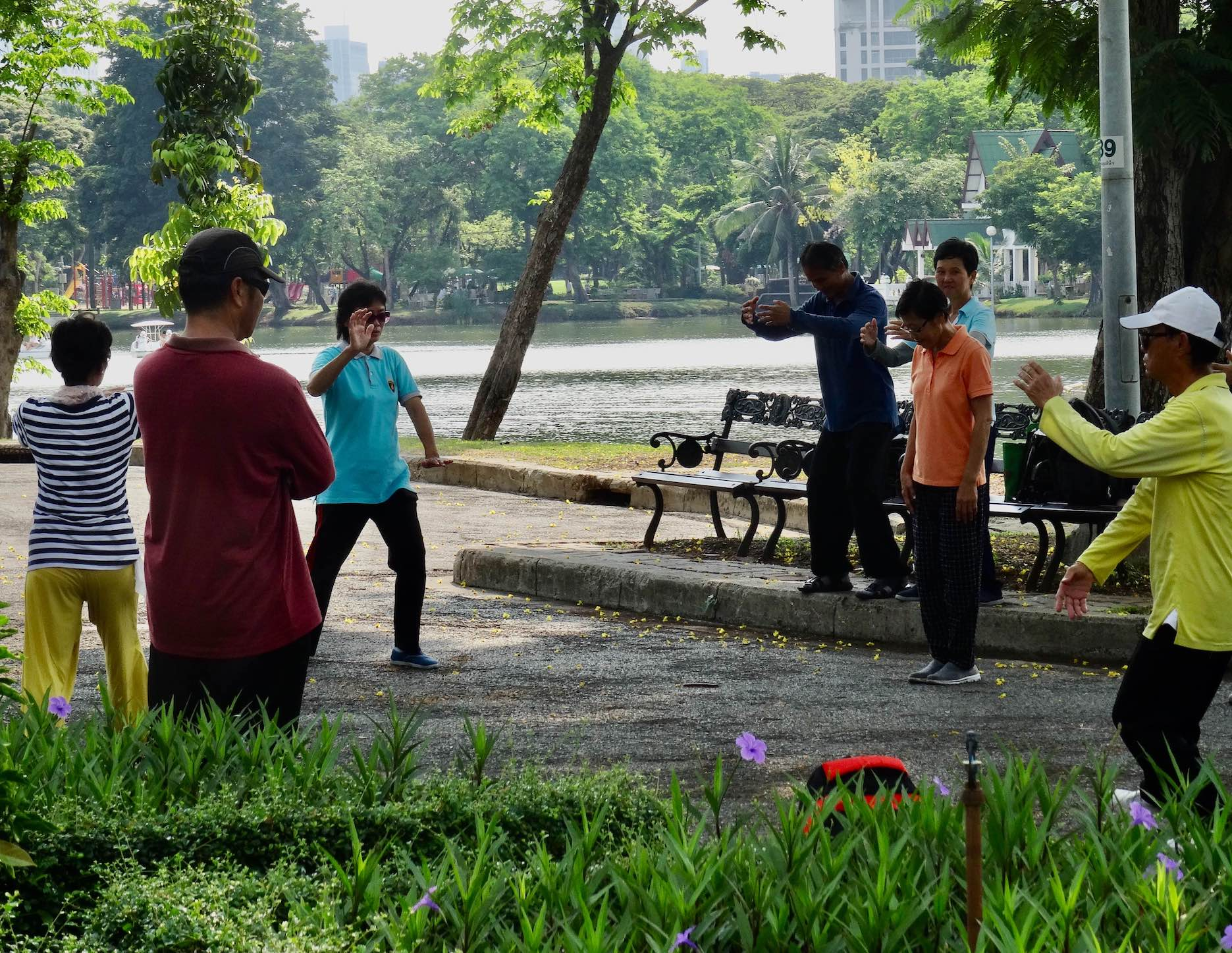 Morning Tai chi Lumphini Park.
