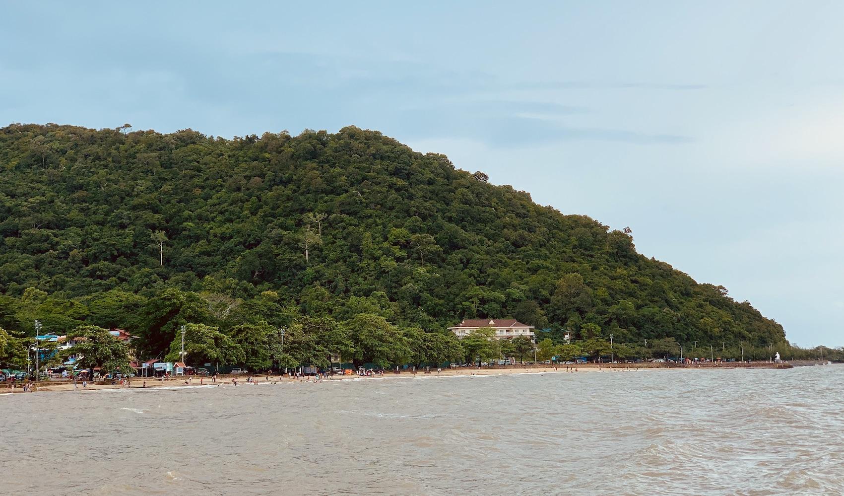 Pretty Kep Beach in Cambodia.