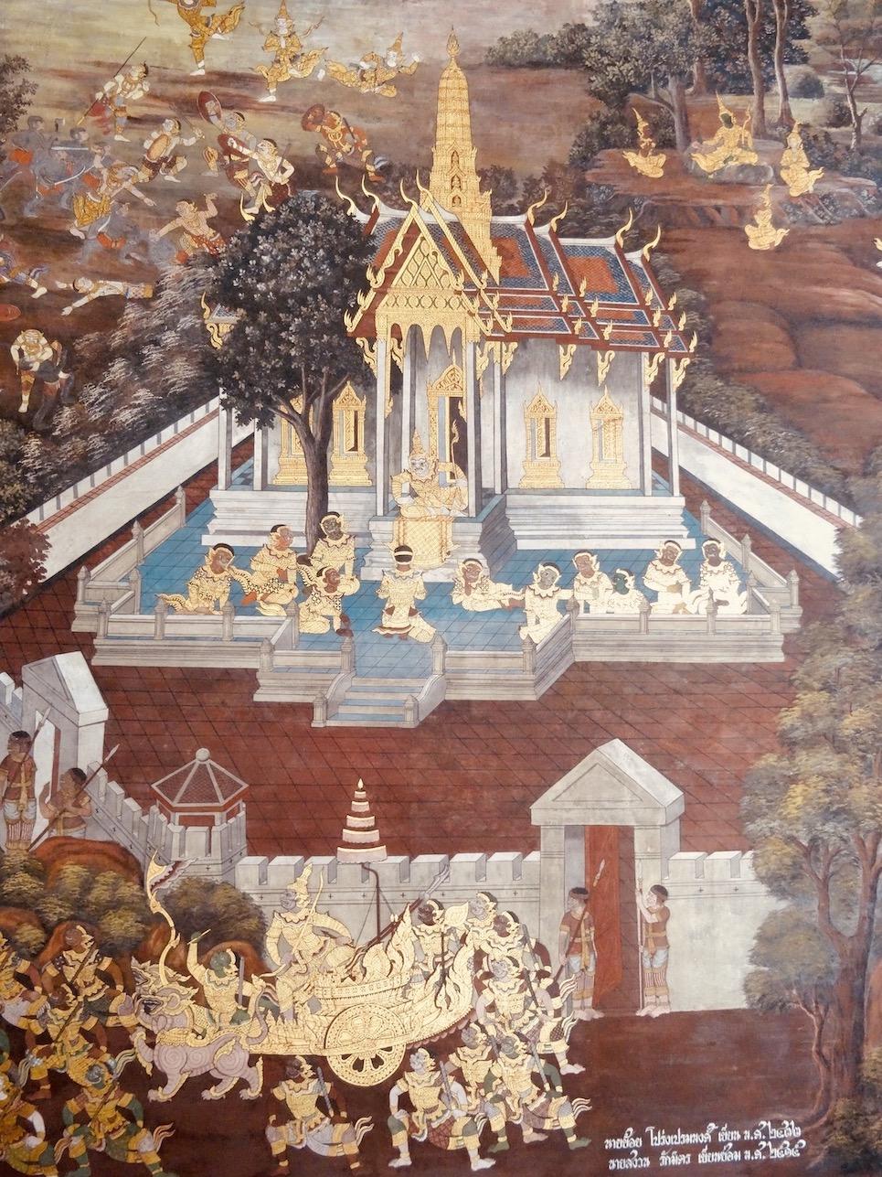 Ramakien Gallery murals Grand Palace Bangkok