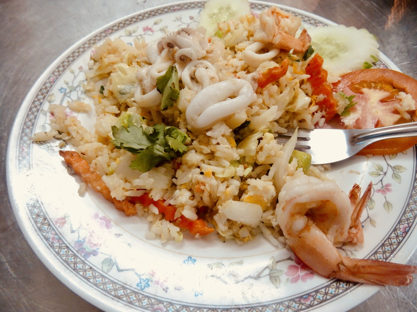 Seafood Fried Rice Bangkok.